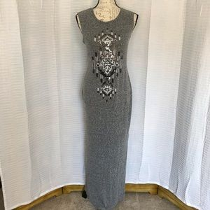 Express Gray Sleeveless Maxi Dress - S - EUC